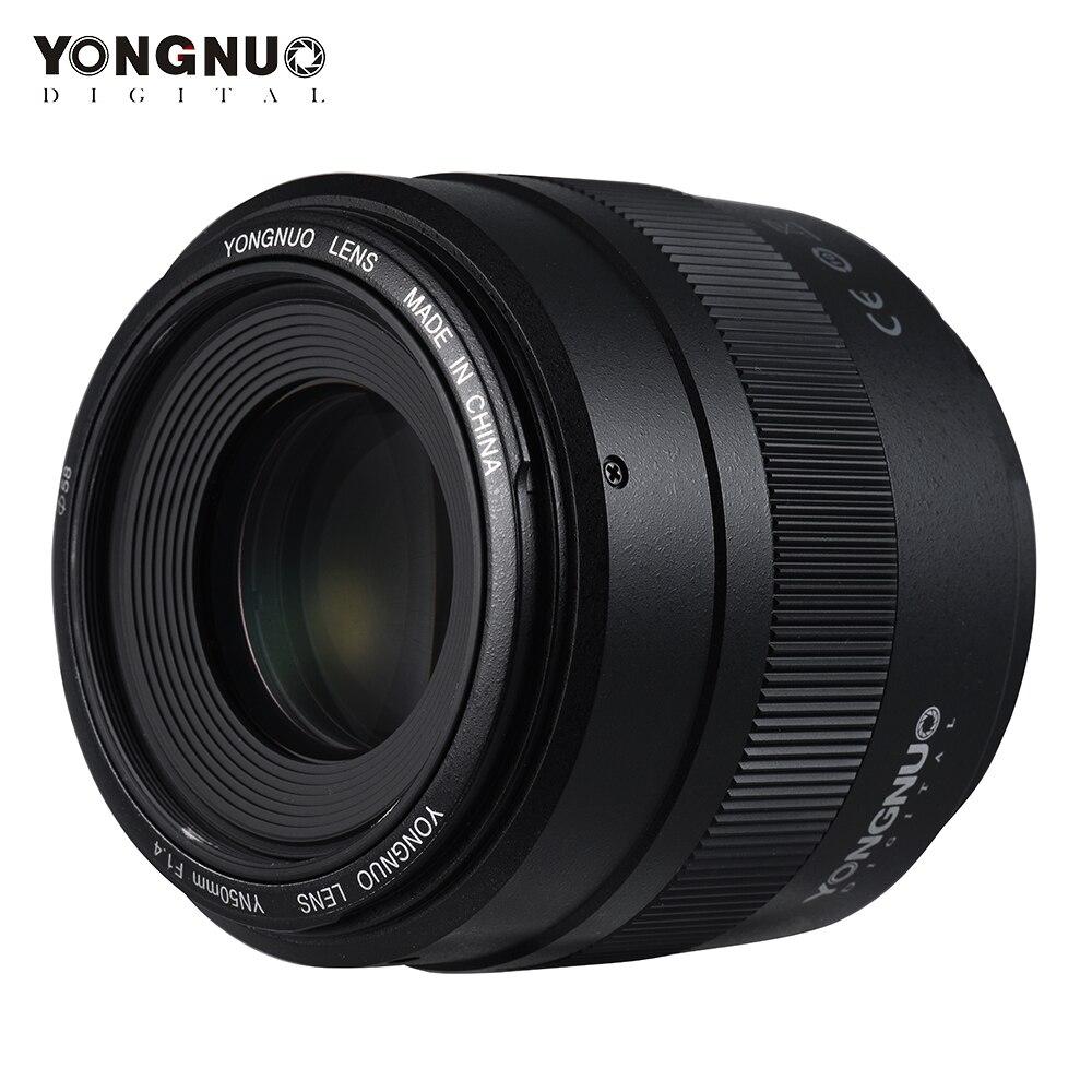Объектив YONGNUO YN50mm F1.4, стандартный объектив с большой диафрагмой, автофокус, объектив для Canon EOS 70D 5D2 5D3 600D DSLR Nikon