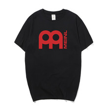 New Summer Meinl T Shirt Men Casual O-neck Cotton Short Sleeve Music Rock Meinl T-shirt Tees OS-185 meinl sh5r