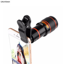 Girlwoman 12x Zoom Telescope Portable Mobile Phone Camera Lens