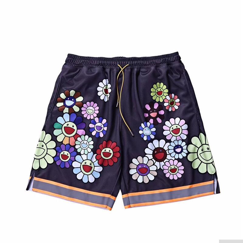 High Quality Summer Latest TOP Hiphop MURAKAMI Shorts Men Women Streetwear Beach Shorts Fashion Casual Cotton ACW Shorts