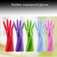 3 Pairs Household Cleaning Latex Gloves Light Colors To Protect Your Hands Free Shipping