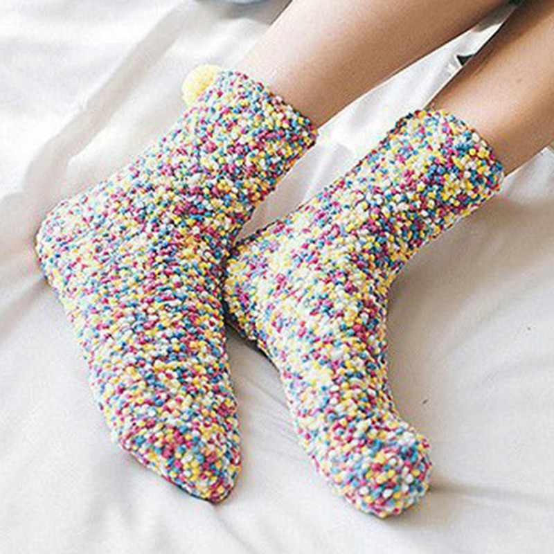 Christmas Women Girls Thicken Bed Sleeping Socks Fluffy Warm Winter Soft Floor Socks