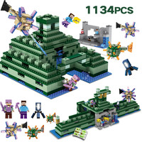 Technic Building Blocks Set Compatible LegoINGLYS Minecrafted The Ocean Monument Bricks Enlightened Toys for Children