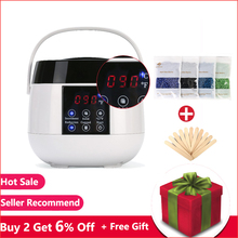 Wax Warmer Heater Pot Epilator Depilatory Kit Paraffin Machine with Hard Wax Bean Hair Removal Skin Care for Arm Leg US PLUG 220v depilatory paraffin wax heater warmer eu plug 300g hard wax beans 12 spatulas hair removal set personal care appliance