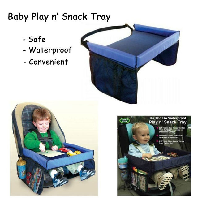 Stroller Accessories Product Baby Waterproof Play And Snack Tray Table  Stroller Feeding Dining Table With Storage