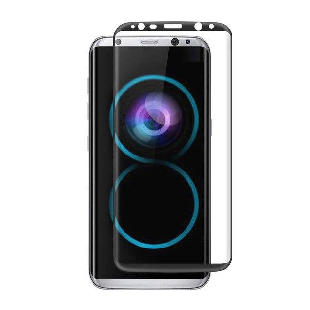 imágenes para 3 Unids/lote S 8 GalaxyS8 3D Curvada de Vidrio templado Para La Cobertura Total Samsung Galaxy S6 S7 S8 Borde Plus Protector de Pantalla 9 H Película