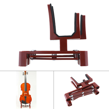 Adjustable Plastic Violin Stand Holder Foldable Extended Violin Accessories with Sponge Pad for 4/4 3/4 1/2 1/4 Violin violin stand holder for full size 4 4 3 4 1 2 1 4 plastic foldable extended sponge pad violin parts