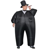 Inflatable Black Tuxedo Suit Fat Gentleman Inflatable Costume Chub Fancy Dress Fun Toy Halloween Carnival Costumes