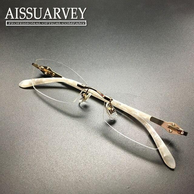 Женщины очки кадр моды очки оптические рецепту элегантные оправы titanium горный хрусталь diamond марка дизайнер белый новый