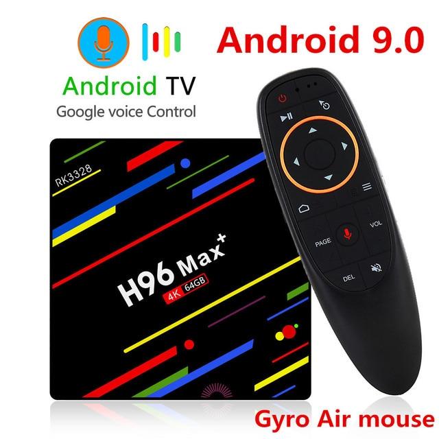 H96 MAX плюс ТВ Android 9,0 Smart Декодер каналов кабельного телевидения RK3328 4 ГБ, 32 ГБ, 64 Гб 5G Wi-Fi 4 K H.265 Media player H96 Pro H2 PK X96 MAX
