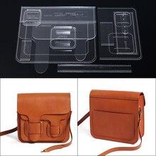1 комплект Акриловый шаблон для моды Кроссбоди мешок сумка на плечо кожаный шаблон для рукоделия DIY трафарет для шитья шаблон 24*21*8 см