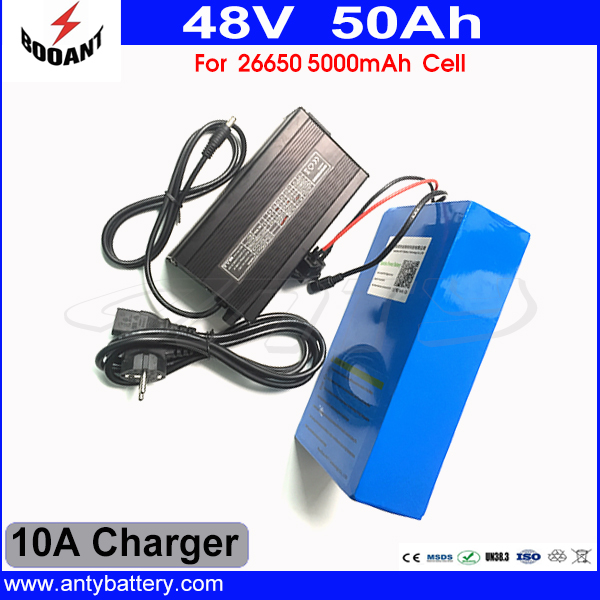 2000W High Capacity 50Ah 48V eBike Battery Built-in 70A BMS With 54.6V 10A Charger Lithium Bicycle Battery 48V Free Shipping battery 48v 14 5ah 1000w for panasonic cell lithium battery 48v with 2a charger built in 30a bms ebike battery 48v free shipping