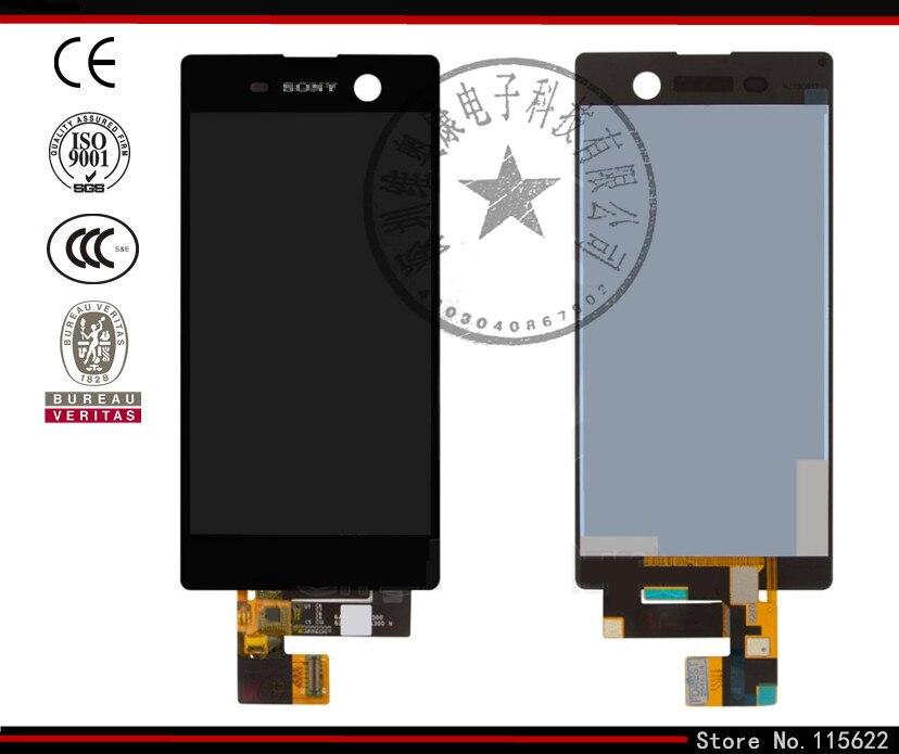 ФОТО LCD display screen for Sony E5603,E5606, E5633, E5653,E5663 Xperia M5 Dual,black,white,original, with touchscreen,with Logo)