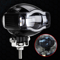 GUBANG Universal 20W 2000LM Motorcycle LED Spot Light Driving Fog Lamp Motorcycle modification Light with USB Charger Port