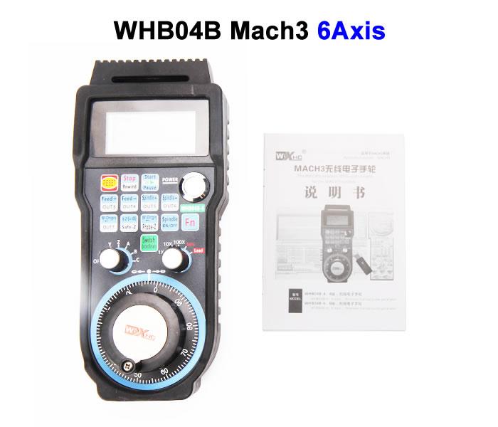 Wireless USB MPG WHB04B-6 433MHZ Electronic Handwheel WHB04B 6Axis CNC Mach3 hand wheel for CNC Machine engraving machine remote control handwheel mach3 mpg usb wireless handwheel for cnc 3 4 axis controller milling machine a545a