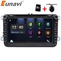 Eunavi 2 Din 8 дюймов dvd для VW POLO Гольф MK5 MK6 PASSAT B6 JETTA TOURAN TIGUAN с gps навигация радио МЖК Bluetooth