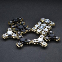 4 Style Fidget Spinner Gear Hand Made CNC Workmanship R188 Bearing Metal Fantastic Hand Spinner Tri