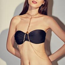 Fashion Sexy Body Chain Women Vintage Ethnic Style Body Clothing Chain Simple Sexy Geometric Tassel Body Chain