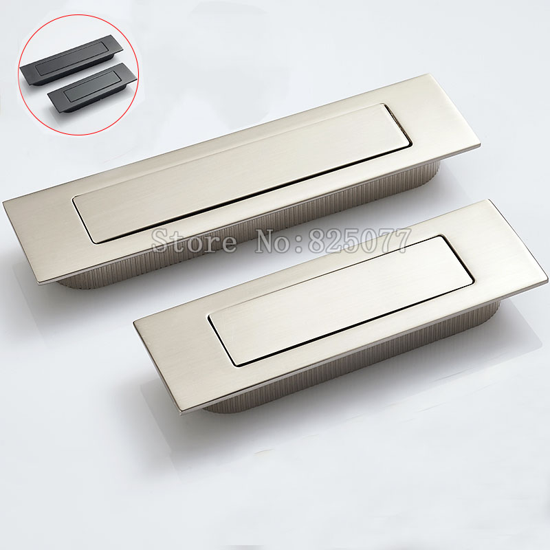 Brushed stainless steel Invisible hidden Spring drawer Sliding door handle Automatic closing dustproof Hardware JF1193