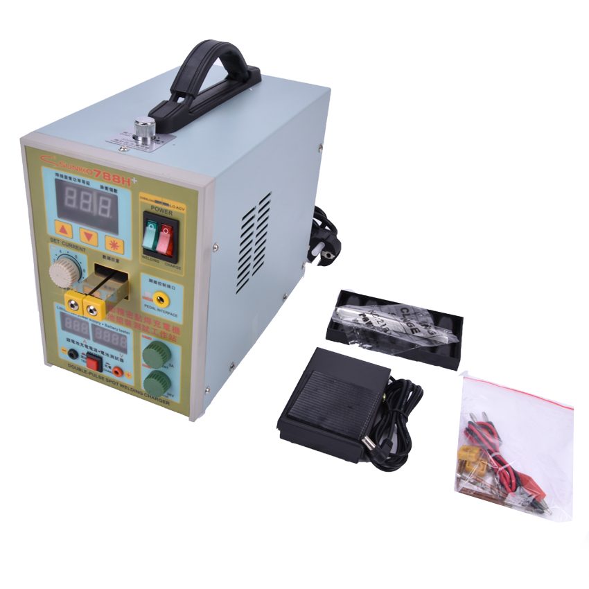 220v 110v new upgrade led lighting 788h double pulse precision 18650 spot welder battery welder with usb output for repair 1PC Pulse Battery Spot Welder 788H(788+)Welding Machine Micro-computer Battery Charger 800 A0.1-0.25mm 36V