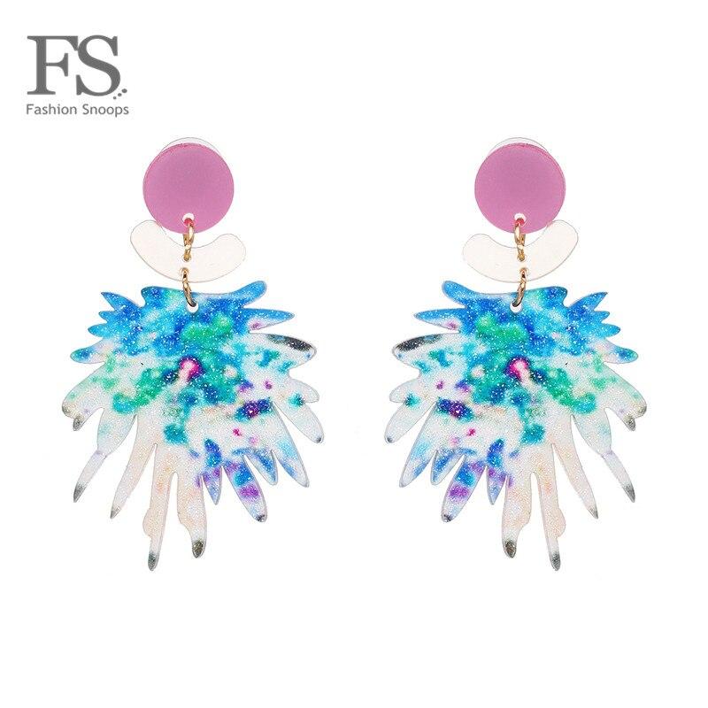 Multicolores Charme Drop Dangle Boucles d/'oreilles pour femmes Bohème Fête De Mariage Bijoux
