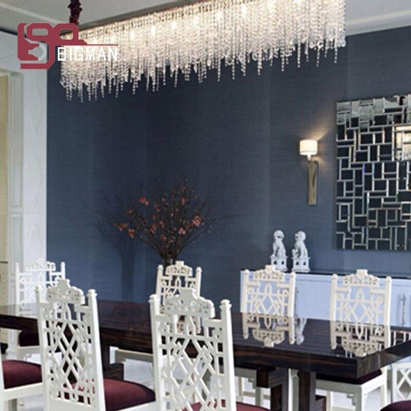 Neue design rechteckige kristall kronleuchter beleuchtung für ...