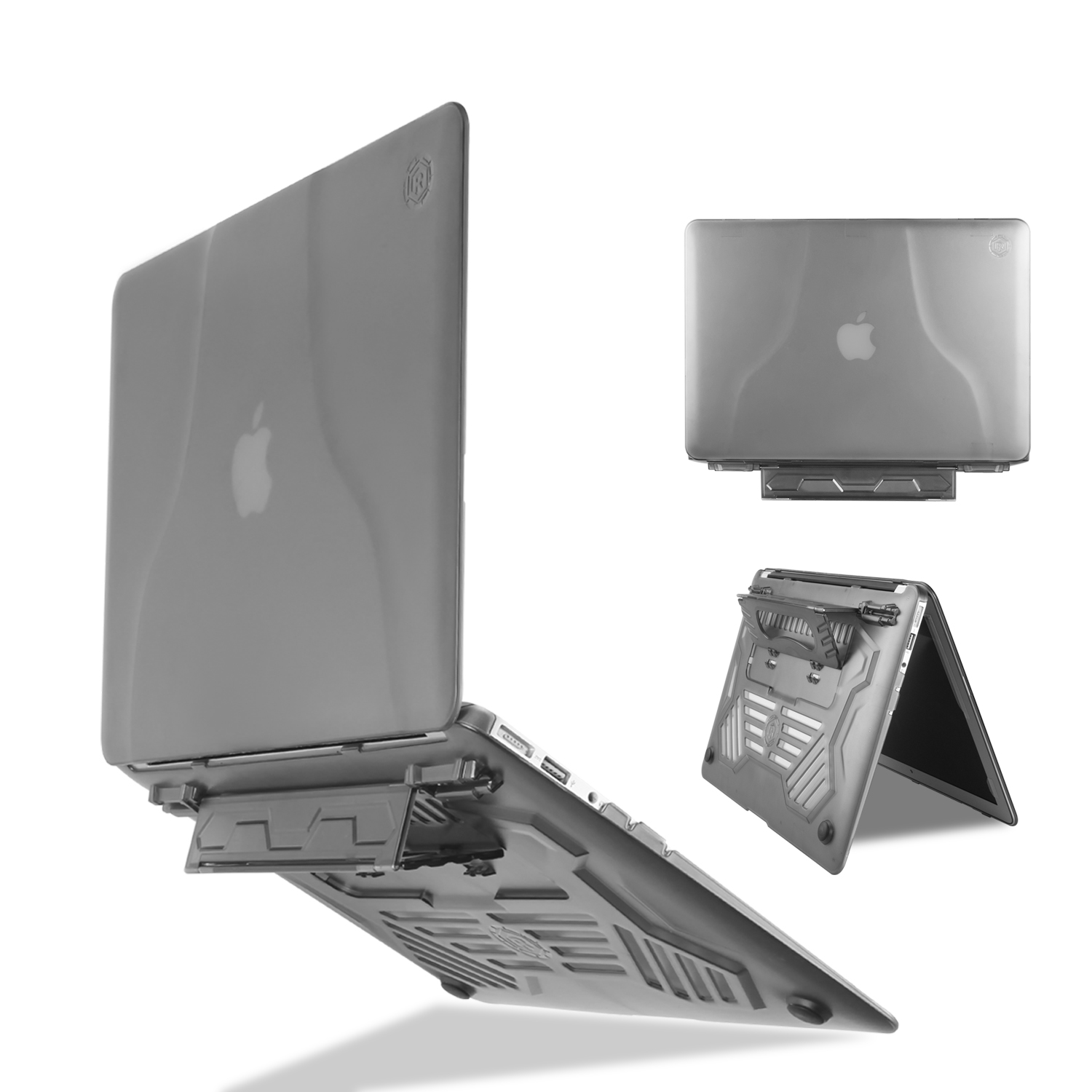 Unique multi-angle stand + portable matte <font><b>case</b></font> for the <font><b>MacBook</b></font> <font><b>Air</b></font> <font><b>13</b></font> inch A1369 <font><b>A1466</b></font>+<font><b>Transparent</b></font> keyboard cover image