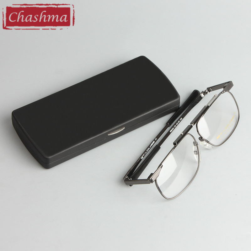 Chashma Brand New Arriving Men Women Eyeglass Foldable Optical Frames <font><b>Reading</b></font> <font><b>Glasses</b></font> Hyperopia with Case image