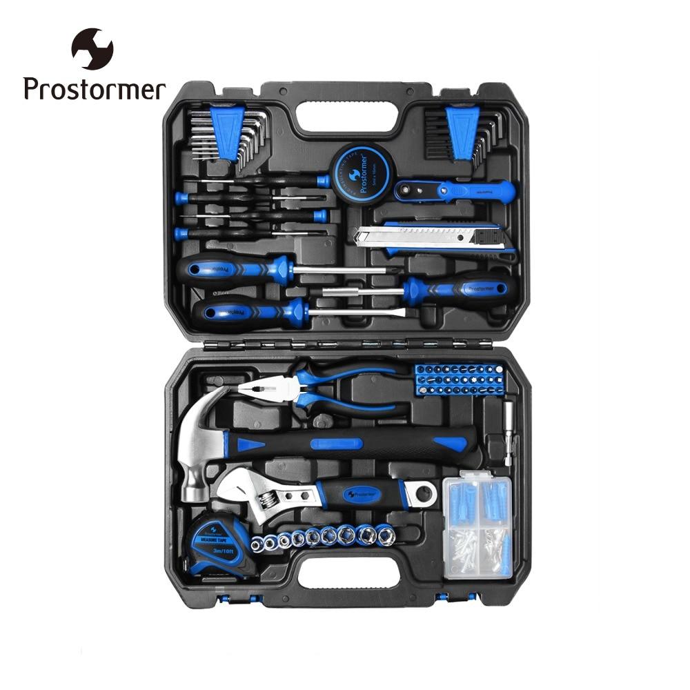Prostormer 120Pcs Hand Tool Set Home Repair DIY Hybrid Set Hand Tool Kit Car Screw hand tool set helfer hf000014