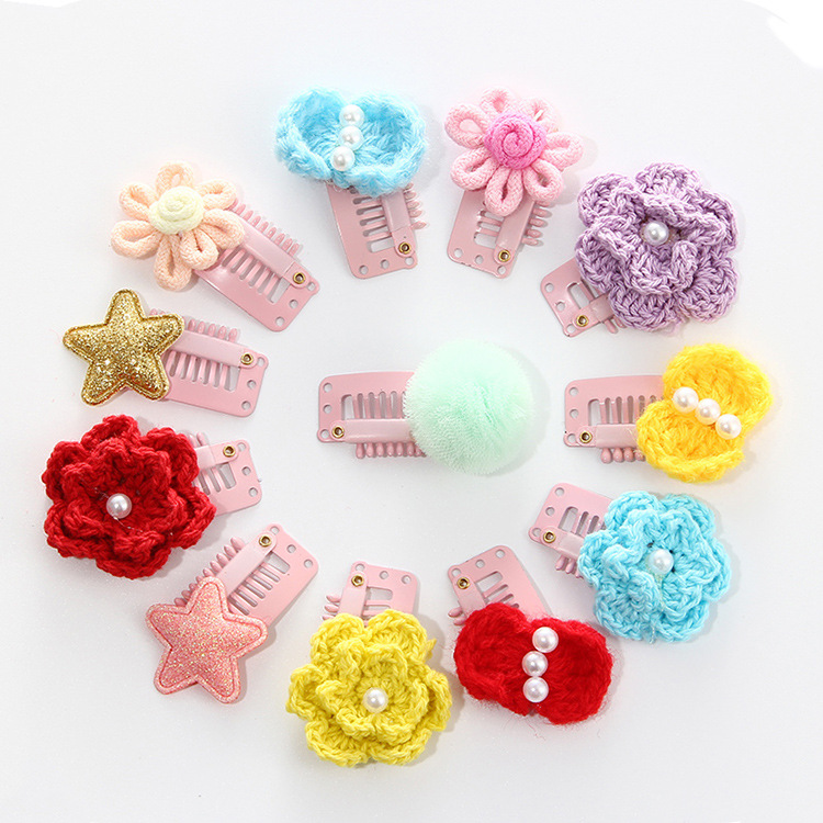 2Pcs/lot Hand-Sewing Solid Dot Infant Baby Small Bow Hair Clips boutique barrettes for children girls Kids Hair Accessories 6 pcs lot infant toddlers ribbon nylon headband boutique elastic band for pretty children baby hair accessories