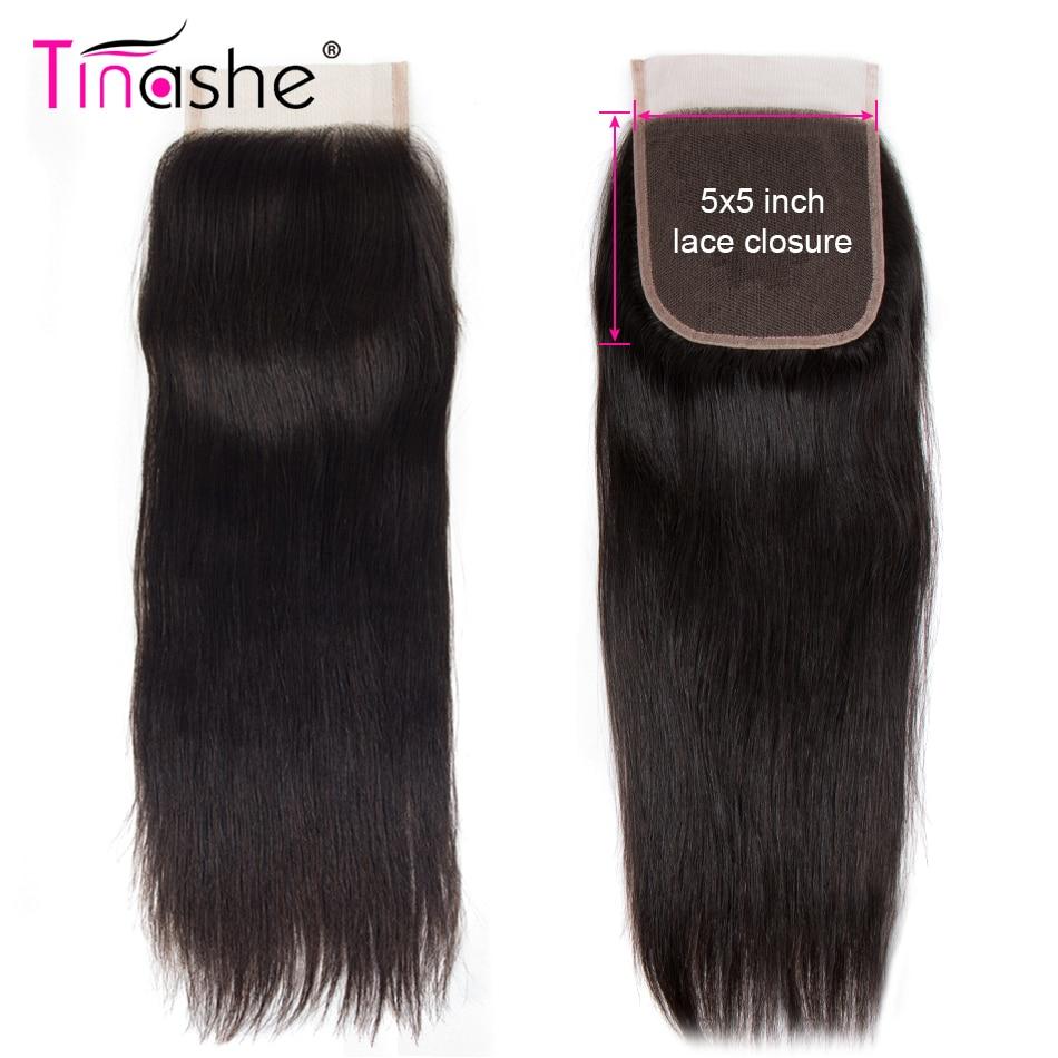 Волосы Tinashe 5x5 на шнурке, свободные/Средние/три части, бразильские Remy, прямые волосы, швейцарские кружевные волосы