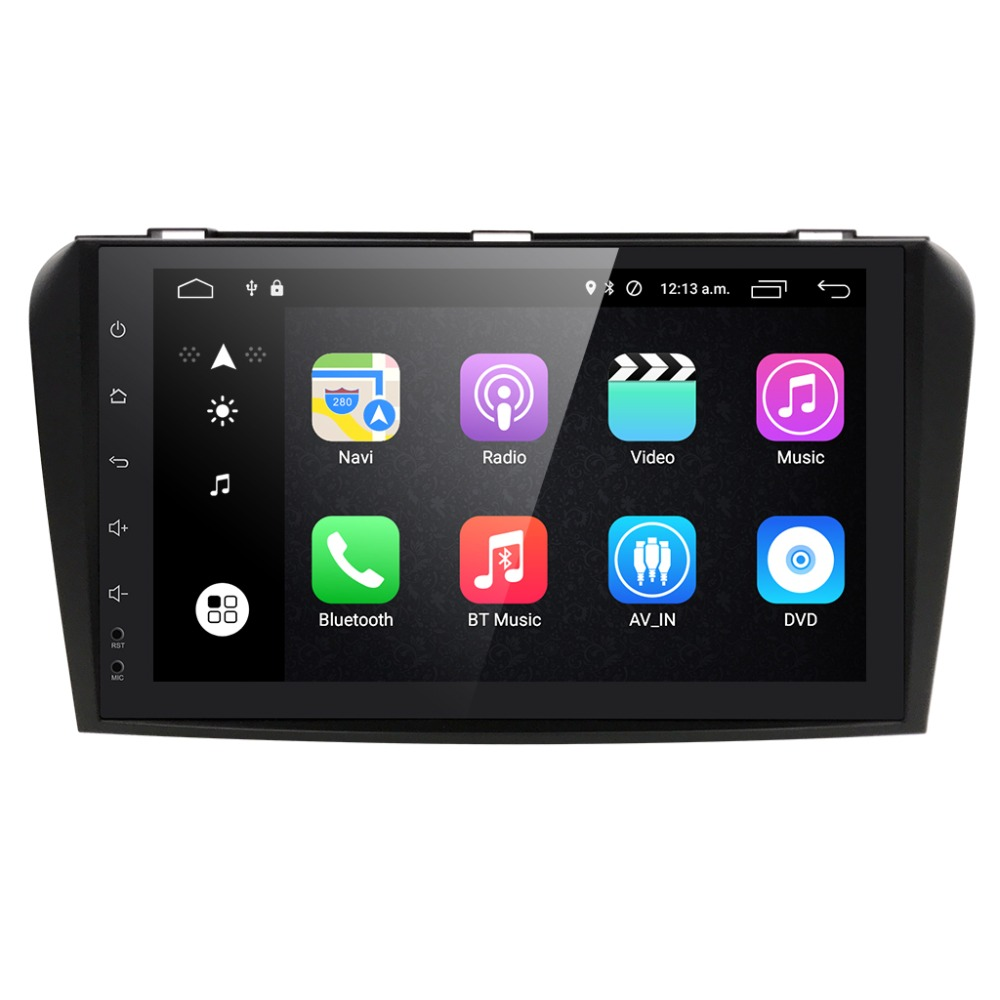 4G LET Android RAM 2GB Car DVD Player for Mazda3 mazda 3 2006 2009 gps radio tape record stereo rds 9inch CANBUS included