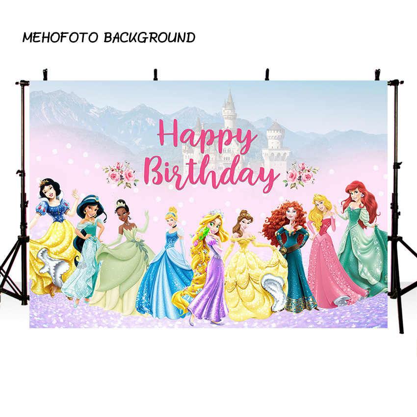 MEHOFOTO сказочная принцесса фон мультфильм дети девочки день рождения фоны для фотостудии пользовательское имя