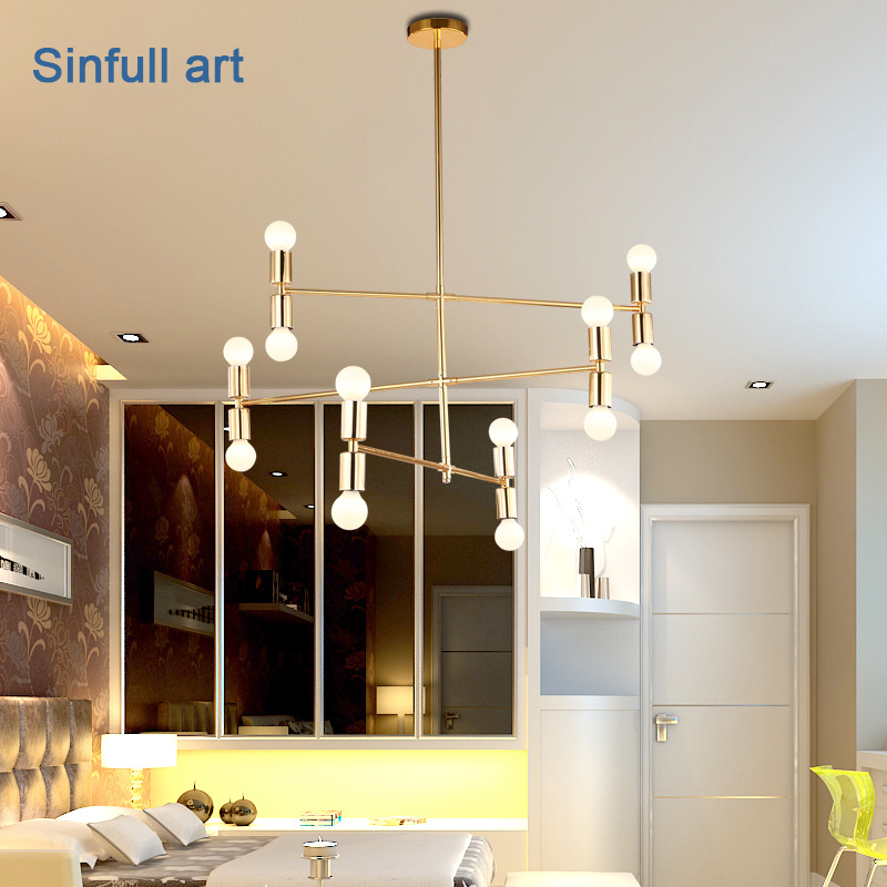 Modern Creative Pendant Light Dining Room Gold Suspension Lamp Nordic Style luminaire Indoor led hang Lighting Fixtures For Home iwhd led pendant light modern creative glass bedroom hanging lamp dining room suspension luminaire home lighting fixtures lustre