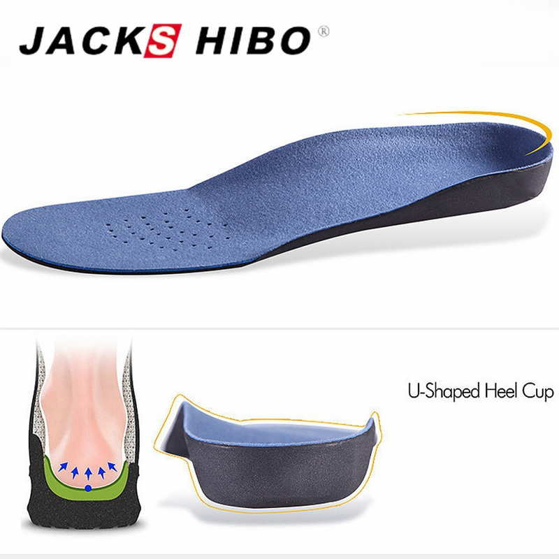JACKSHIBO Unisex Flat Foot Arch Support 25mm Orthopedic Insole Men Women Massage Breathable Sweat Absorption Insoles Large Size expfoot orthotic arch support shoe pad orthopedic insoles pu insoles for shoes breathable foot pads massage sport insole 045