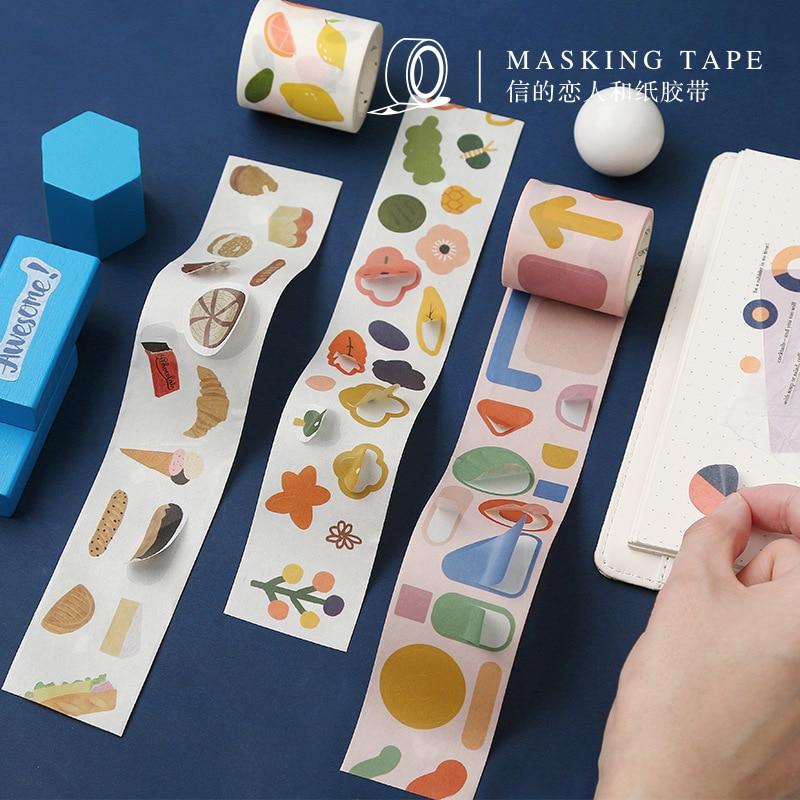 40 Cm Wide Fun Geometry Flowers Washi Tape Adhesive Tape Diy Scrapbooking Sticker Label Masking Tape