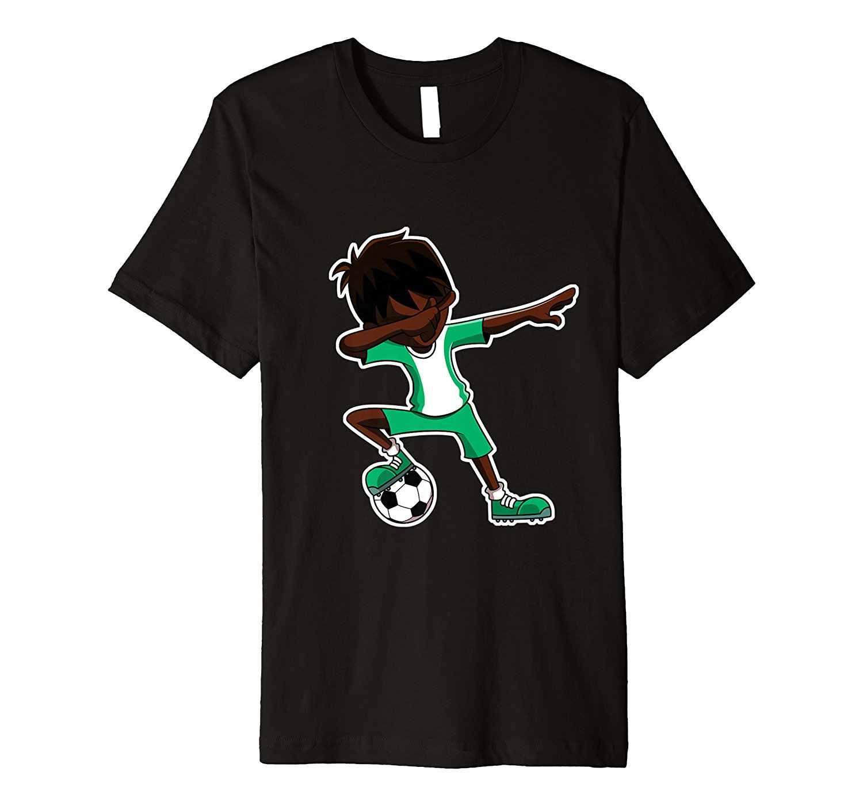 חדש קיץ גברים גברים 100% כותנה מגניב מספיג Soccers וי ג 'רזי חולצה, ניגריה דגל כדורגלן T חולצות מגניב Tees חולצות Harajuku