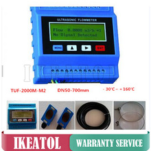 TUF-2000M Ultrasonic Digital Flowmeter TS-2 Transducer (DN15-100mm) Digital Water Flow Meter