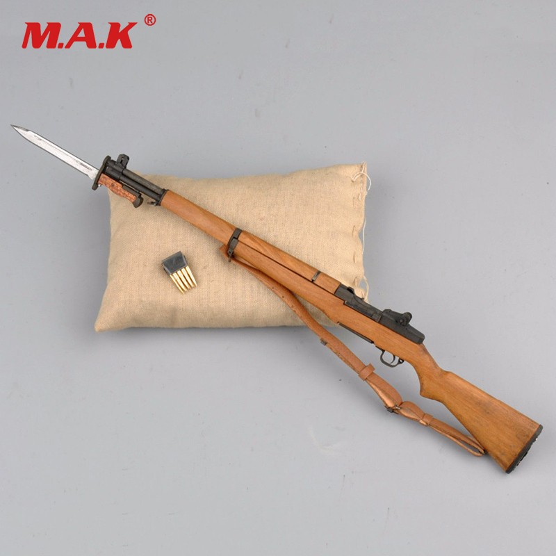 1/6 Scale Mini M1 Garand Weapon United States Rifle Gun Model Toys For 12 Action Figure Accessory 1 6 scale 4d assembling qsz92 pistol model gun weapon mode kids toys for 12 action figure accessories collectible gifts e