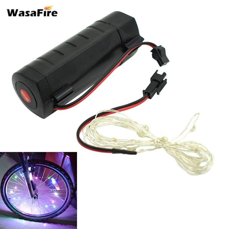 Wasafire красочные мини велик свет 18 светодиодов 3 режима Мощность по 3 * ААА батареек для колеса велосипеда спицы Велосипедный Спорт аксессуары