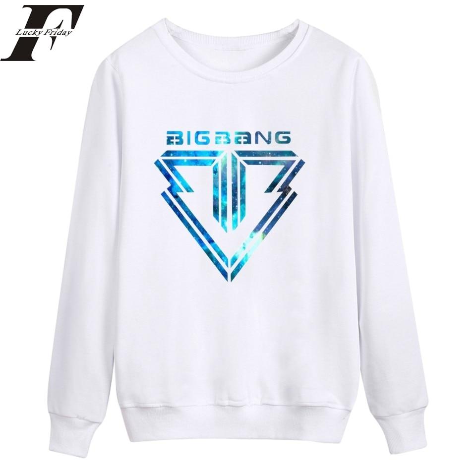 2017 Cotton Bigbang Warm Sweatshirt Mens capless Hoodie Plus Size Pullover Women Clothes Bigbang Hoodies Streetwear survetement
