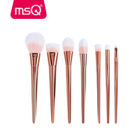 2017 NEW Techniqueing MSQ 7 Pcs Makeup Brushes Set Synthetic Hair Make Up Brushes Tools Cosmetic