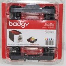 Evolis CBGR0100C лента YMCKO кассеты 100 печать 5 панелей для Badgy100 Badgy200 идентификационная лента для принтера