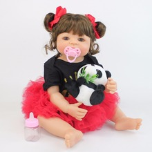 55cm Full Silicone Reborn Baby Dolls Boneca Vinyl Adorable Newborn Princess Toddler Babies Bebe Alive Girls Toys Birthday Gift