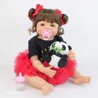 55cm silicone cheio reborn bebê bonecas boneca vinil adorável recém-nascido princesa bebês da criança bebe vivo meninas brinquedos presente de aniversário