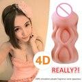 2016 Nuevo 4D vagina realista coño bolsillo Artificial Masturbador Masculino para Hombres adultos juguetes sexuales tienda de sexo para adultos para los hombres masturbador