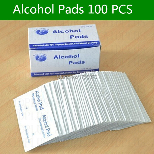 36 PCS Antiphlogosis Isopropyl Alcohol Swab Pads Piece Wipe Antiseptic Skin Cleaning Care First Aid 1