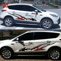 RS Power S Style Car Side Refit Vinyl Sticker For Ford 1 Pair Totem Cool Car