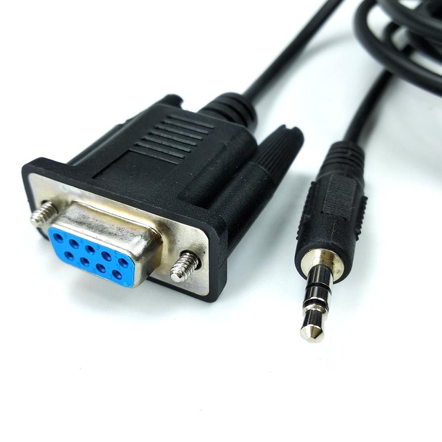 db9 rs232 serial to 35mm aux stereo jack serial cable for intel