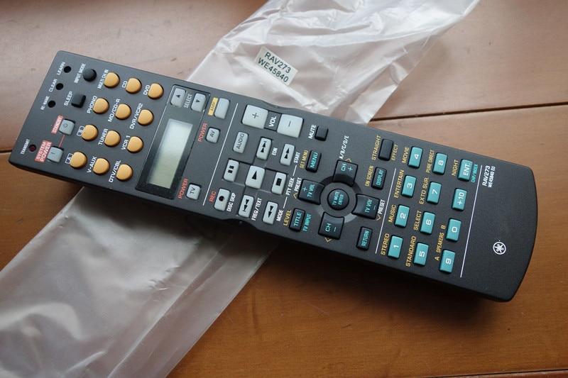 NEW Original AV Receiver For YAMAHA RAV273,WE45840EU Remote Control Replace The RAV270 new replacement for sony rm aau013 av receiver remote control for ht ddw685 ht ddw790 e15 strdg500 strdh100 strdh500